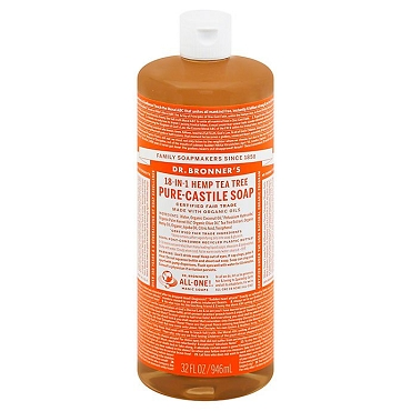 Dr. Bronner's Magic Soaps Hemp Tea Tree  Pure-Castile Soap( 32oz. Bottle)