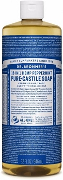 Dr. Bronner's Magic Soaps Peppermint Pure-Castile Soap( 32oz. Bottle)